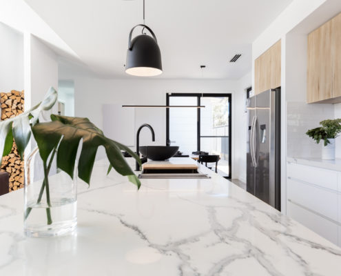 Kitchen marble bench black modern luxury